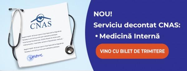 Medicina Internă un nou serviciu medical decontat CAS